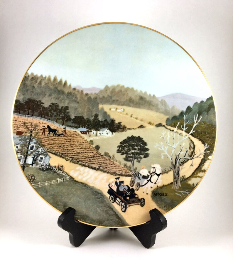 Grandma Moses Memories of America Collector Plate The Old image 0