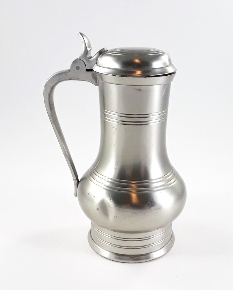 KMD Tiel Royal Holland Tankard with Hinged Lid Pewter image 0