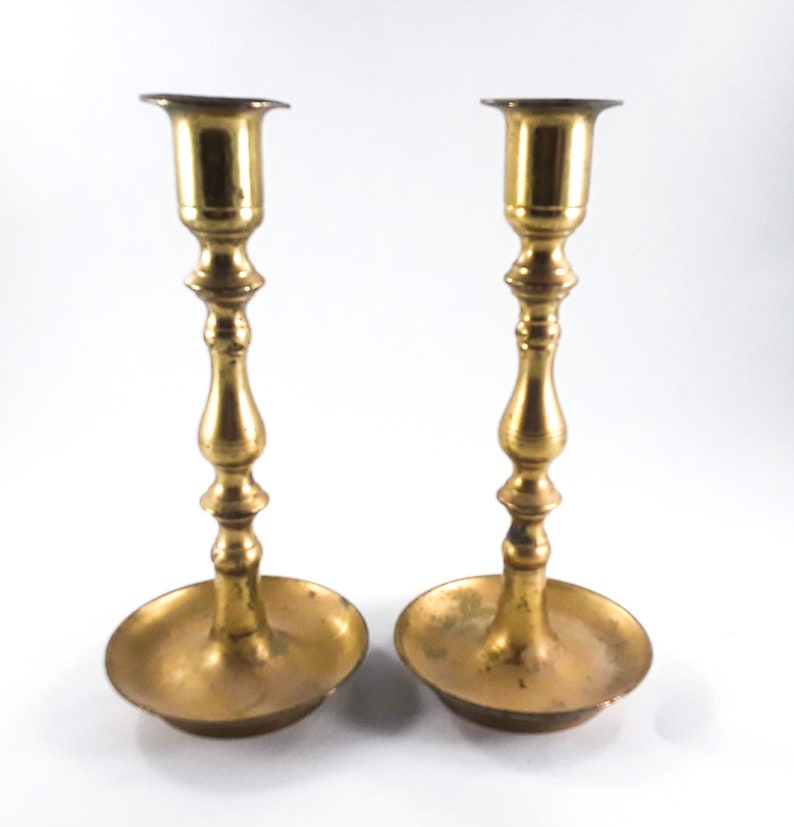 Brass Candlestick Holder Japan 7 Inch image 0