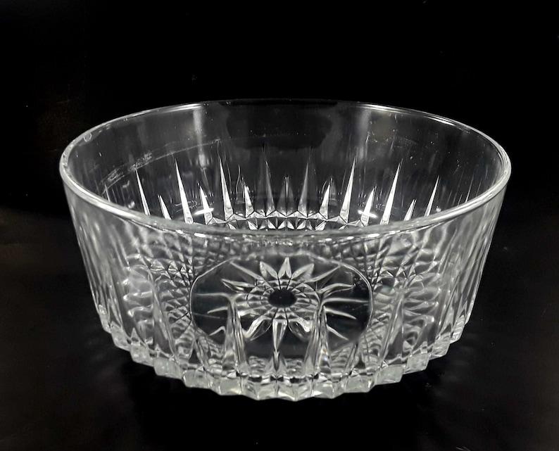 Arcoroc Large Crystal Serving Bowl Cavalier Diamant Pattern 9 image 0