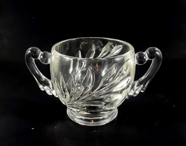 Indiana Clear Glass Open Sugar Bowl Willow Pattern image 0