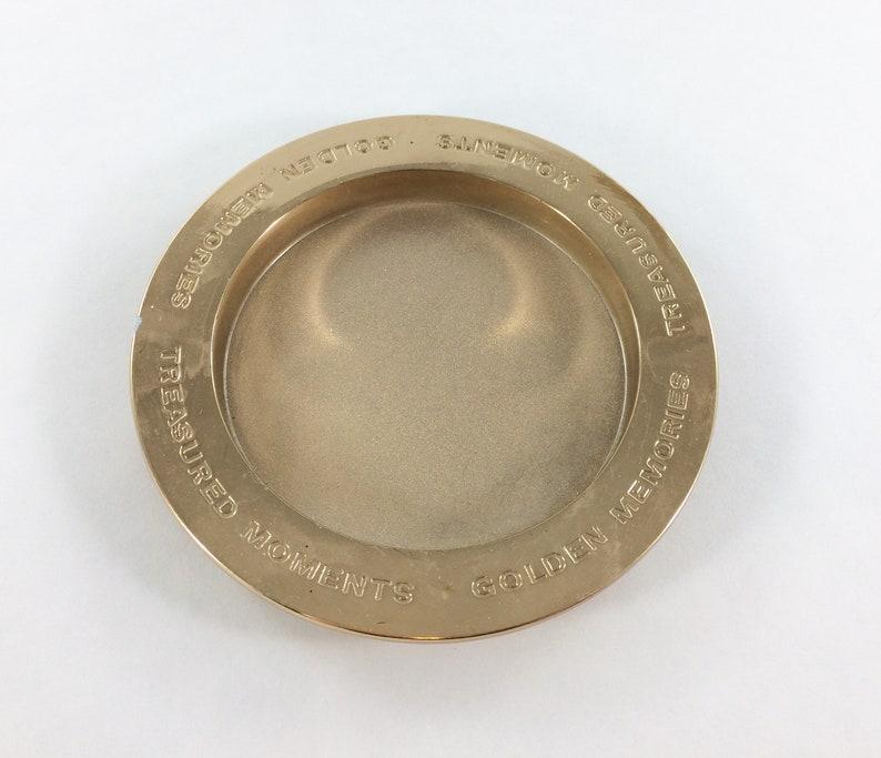 Hallmark Golden Memories Treasured Moments Brass Coin Dish image 0