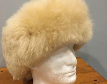 Alpaca Hat Fur Lined- Beige
