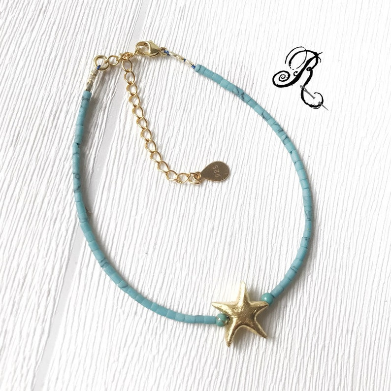Delicate turquoise Gold Bracelet  Dreaming of the image 0