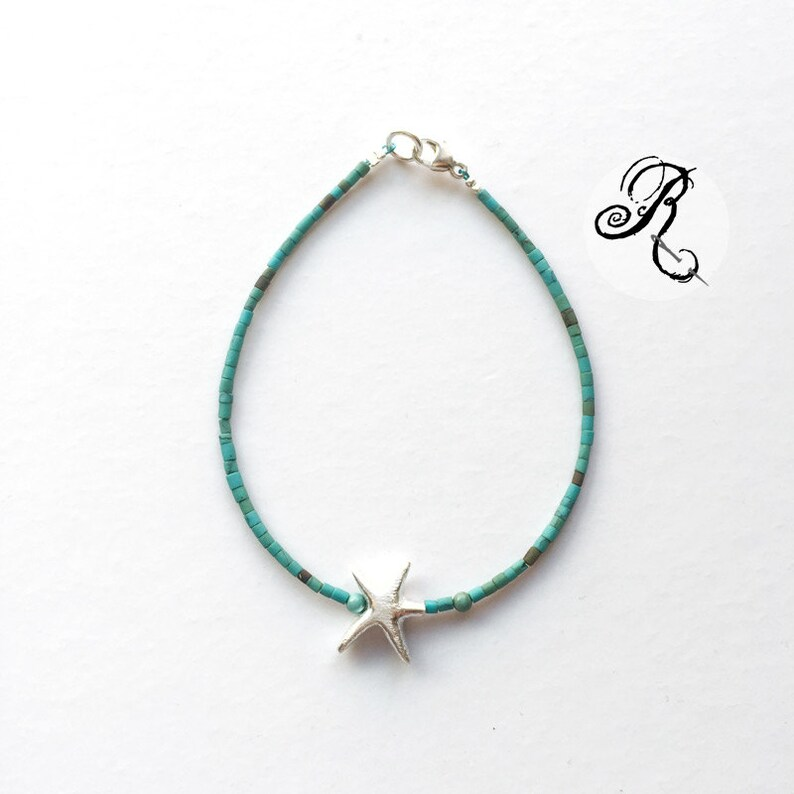 Delicate turquoise Bracelet  Dreaming of the sea image 0