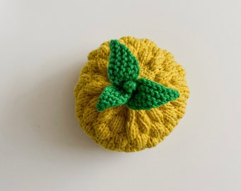 Baby pineapple hat - hand knitted - unisex - size: 0 - 3 months - gift idea - certified merino extrafine