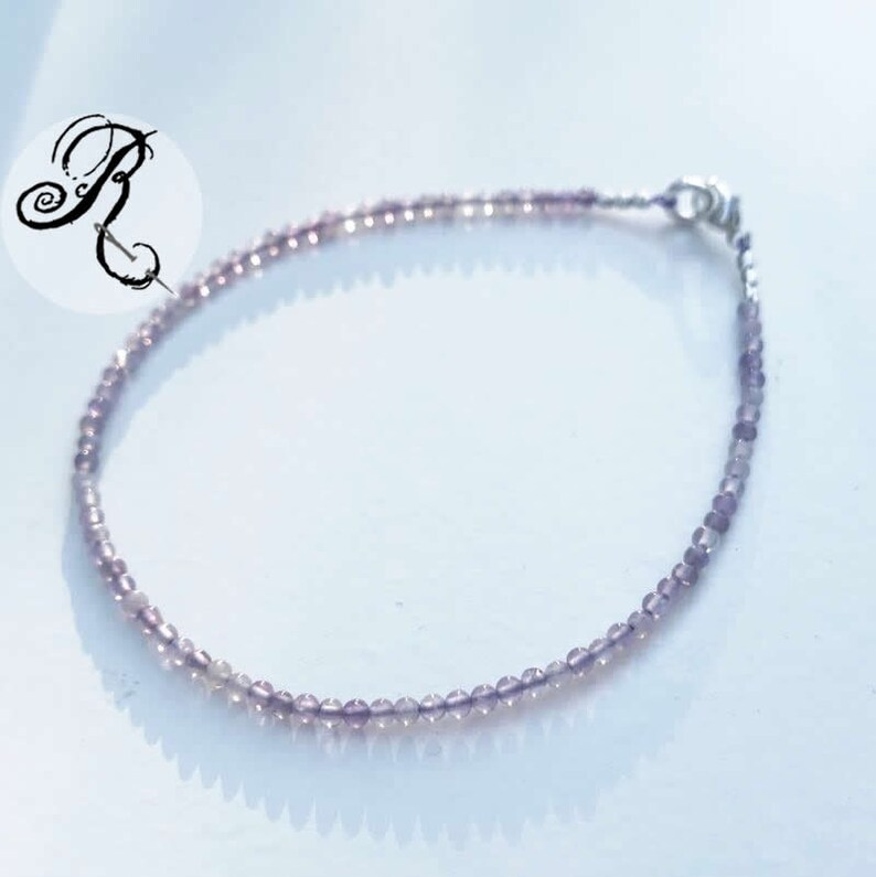 Delicate Amethyst Bracelet Natural Amethyst in Lilac / image 0