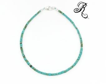 Delicate turquoise Bracelet, Friendship Bracelet, Something Blue, boho style bracelet, festival bracelet