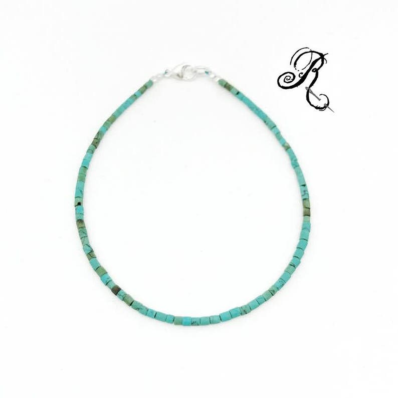 Delicate turquoise Bracelet Friendship Bracelet Something image 0