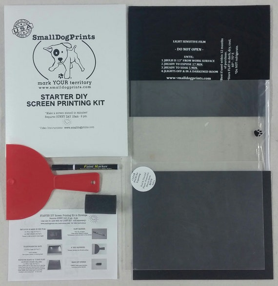 Starter Diy Silk Screen Printing Kit In Envelope W Emulsion On Mesh Sheets Yudu Etc