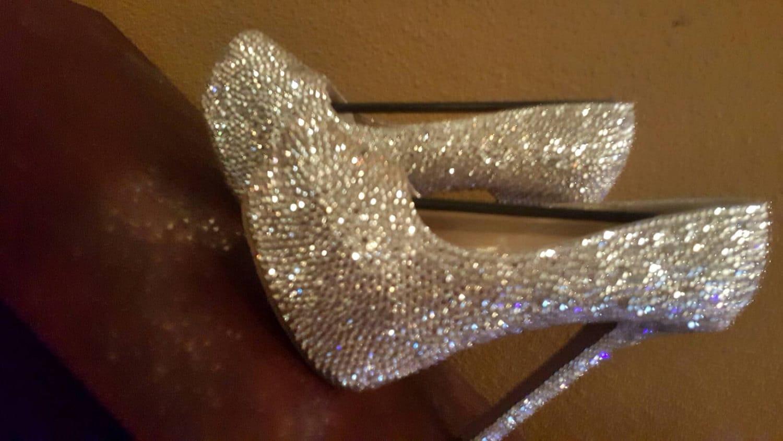Swarovski Bling Crystal Bridal Wedding Shoes, Wedding heels, Bridal ...