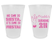 Birthday Custom Frosted Cups, 5oz, 8oz, 9oz, 10oz, 12oz, 14oz, 16oz, 20oz, 24oz Personalized Cups, Party Cups, Party Decoration SEC-16