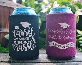 Graduation Slim Can Cooler 4 Proud MOM Awesome 2021 Graduates Customized Slim Drink Coolie Personalized Slim Can Coolers Party Favor
