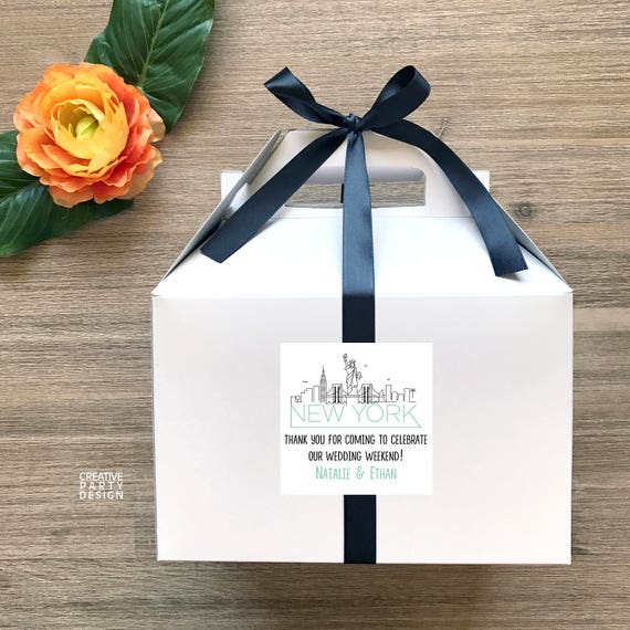 10 New York Skyline Guest Favor Boxes Wedding Guest Etsy