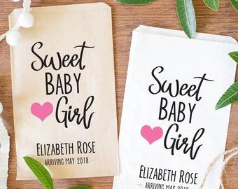 Sweet Baby Girl, Baby Shower Candy Bags, Baby Girl Treat Bags, Baby Shower Candy Buffet Favors - BSE-117
