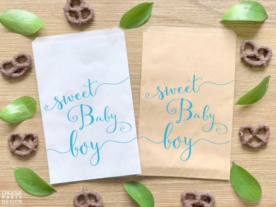 Personalized Treat BagsFavor bagsCandy bagsBaby ShowerBirth AnnouncementBirthdayFully Assembled