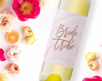 wine label wedding / bride tribe label / bridesmaid gift / maid of honor gift / bridesmaid proposal WLB-22