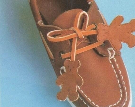 Instant PDF Digital Download Vintage Full Size Sewing Pattern to make Teddy Bear Shoe or Boot Tassels.