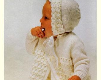61dab7e05 4 ply baby bonnet