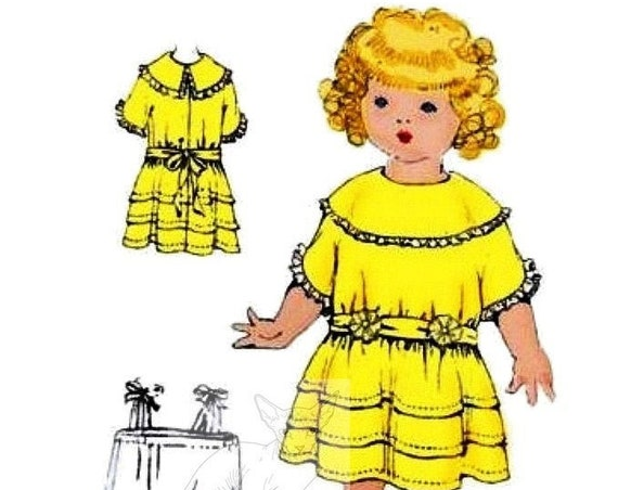 Instant PDF DIGITAL Download Vintage Sewing Pattern to make McCalls Historical Selection of Doll's Clothes for 26'' Dolls
