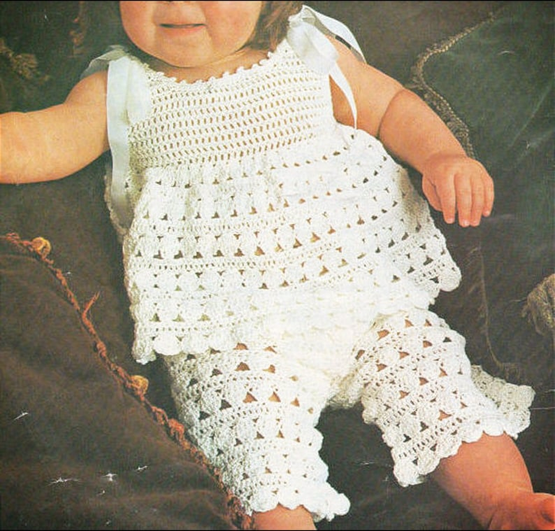 4ab4f1cd2505 Instant PDF Download Vintage Crochet Pattern to make a Baby