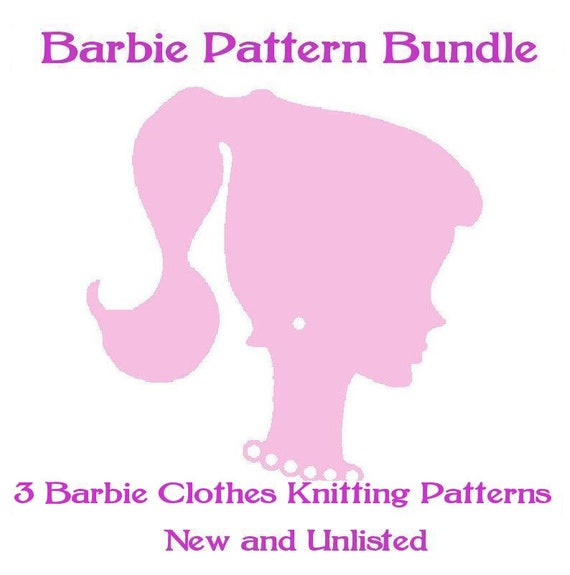 ickythecat™ Bargain Pattern Bundle PDF Digital 3 Assorted Crochet Patterns for Barbie/Teenage Dolls of Similar Size. New Unlisted Patterns