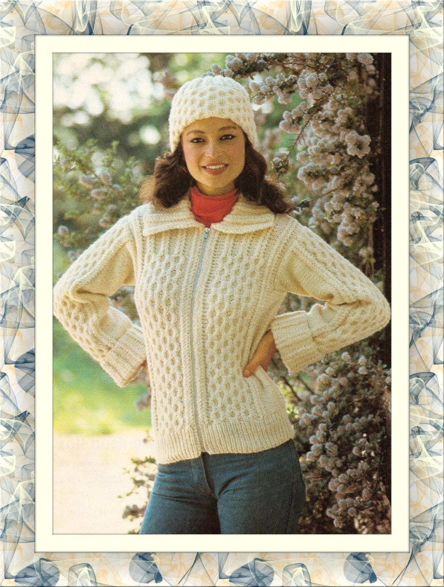 98087612e Instant PDF Digital Download Vintage Row by Row Knitting Pattern ...