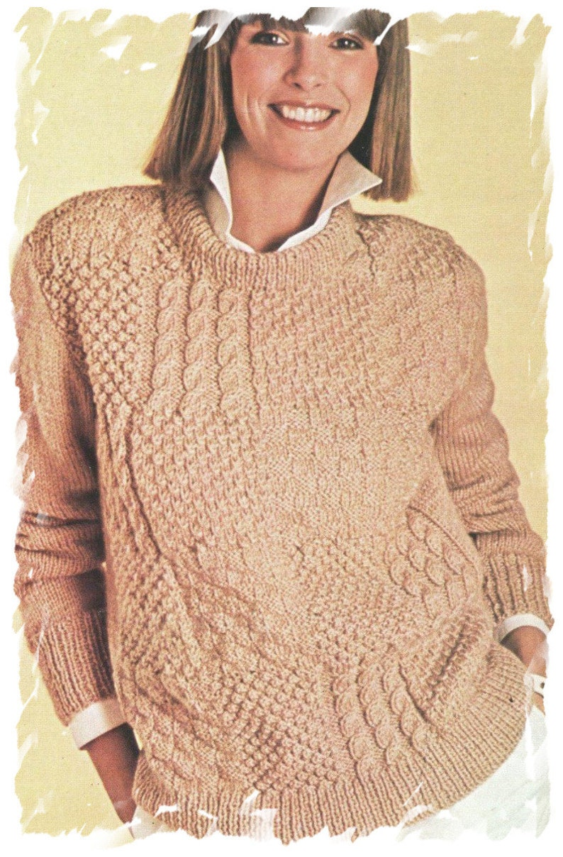 cf40ac777 Instant Digital Download PDF Vintage Knitting Pattern to make