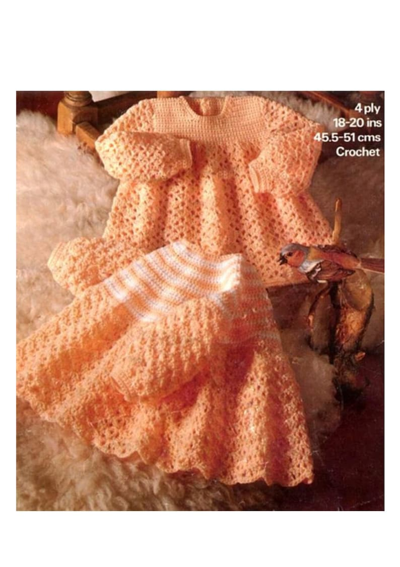 f342e416a810 Instant PDF Digital Download Vintage Crochet Pattern Two