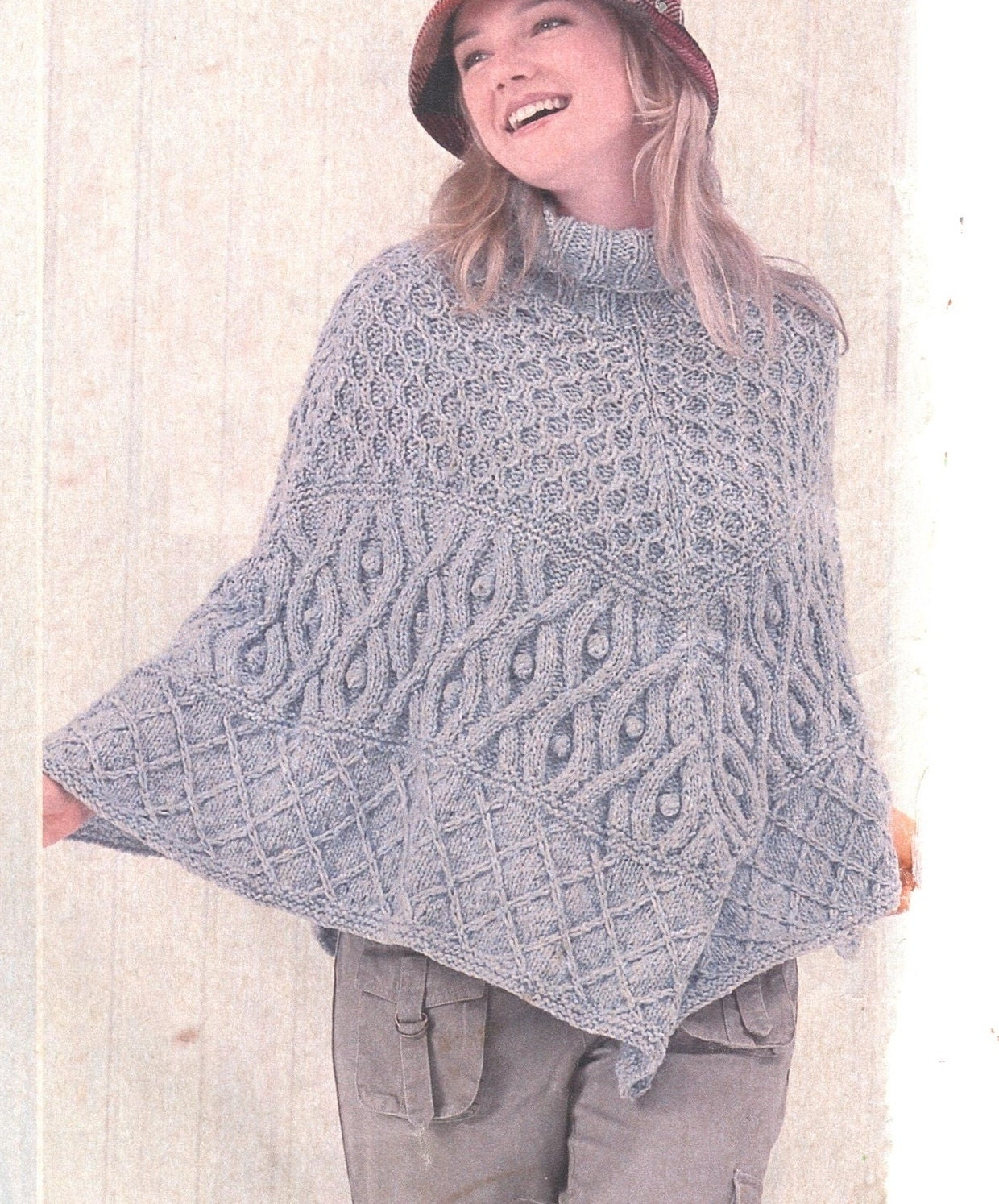 Instant PDF Digital Download Vintage Knitting Pattern to