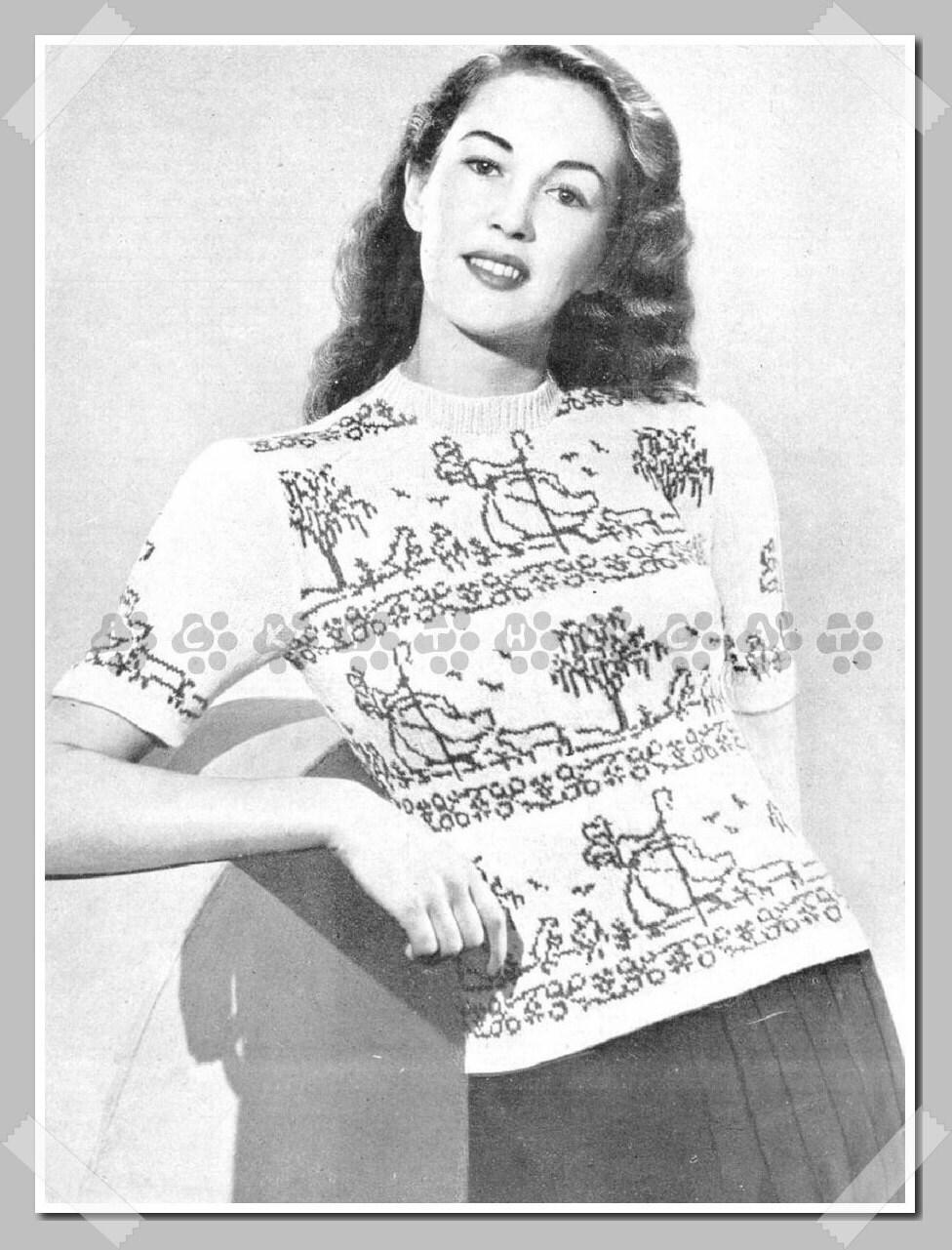 ALMOST FREE Instant PDF Digital Download Vintage 40\'s