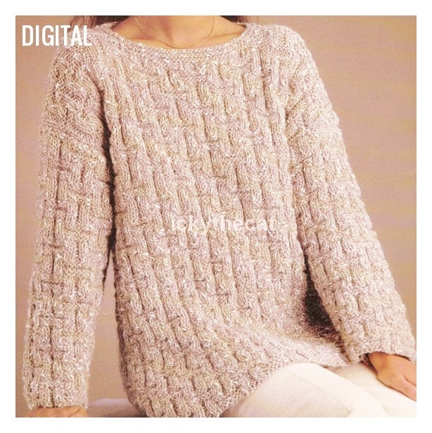 7fd3d2669f5b Instant PDF Digital Download Vintage Row by Row Knitting