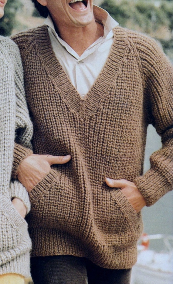 7e1a7dc60bbd Instant Download PDF Vintage Row by Row Knitting Pattern to
