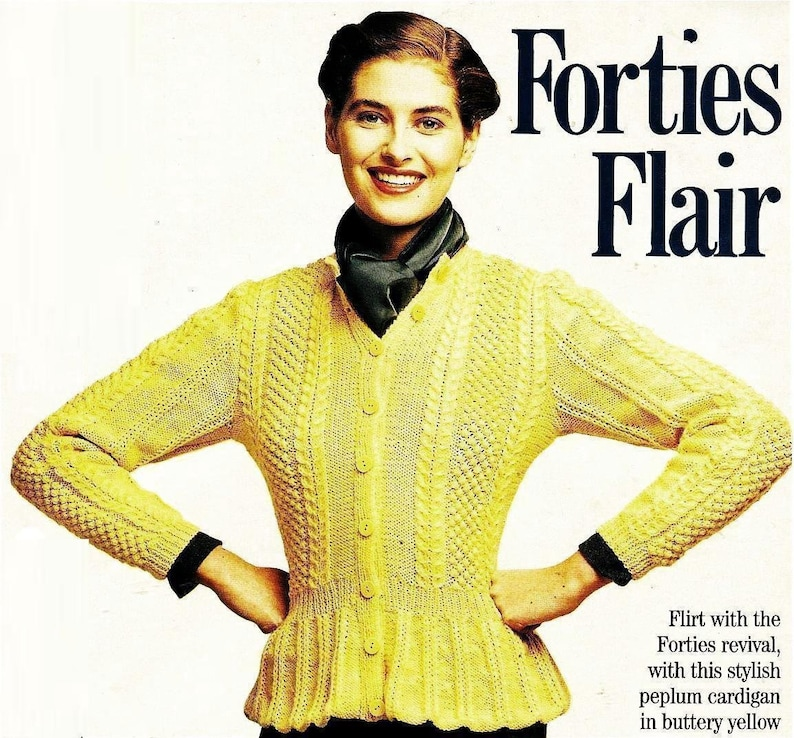 8fac4cfd99f2 ALMOST FREE Instant PDF Download Vintage Knitting Pattern