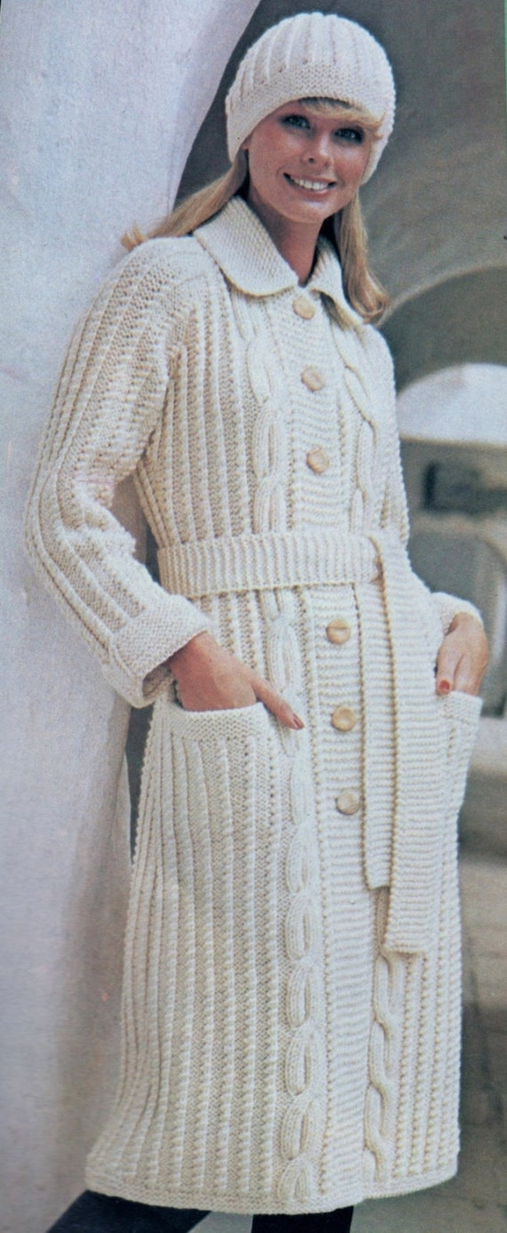 b29d854b552e Instant PDF Download Vintage Row by Row Knitting Pattern to