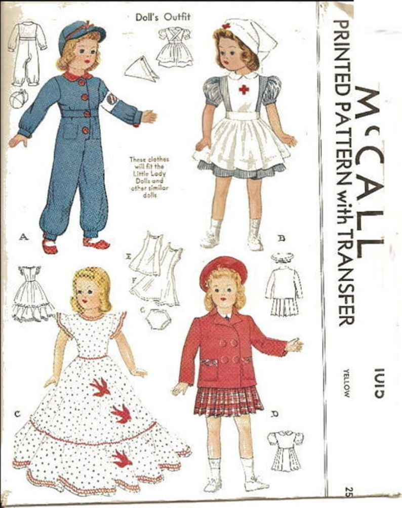 """Little Lady Patsy Doll Clothes Dress Pattern ~ 13/"""" 14/"""" Vintage Shirley Temple"""