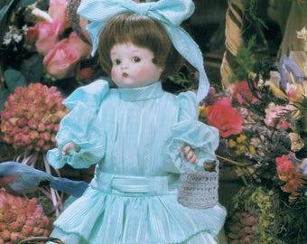 Sewing Pattern originale completo dimensioni inutilizzati per fare vestiti A superbo vestito di bambole superba per un 13 ' alto bambola