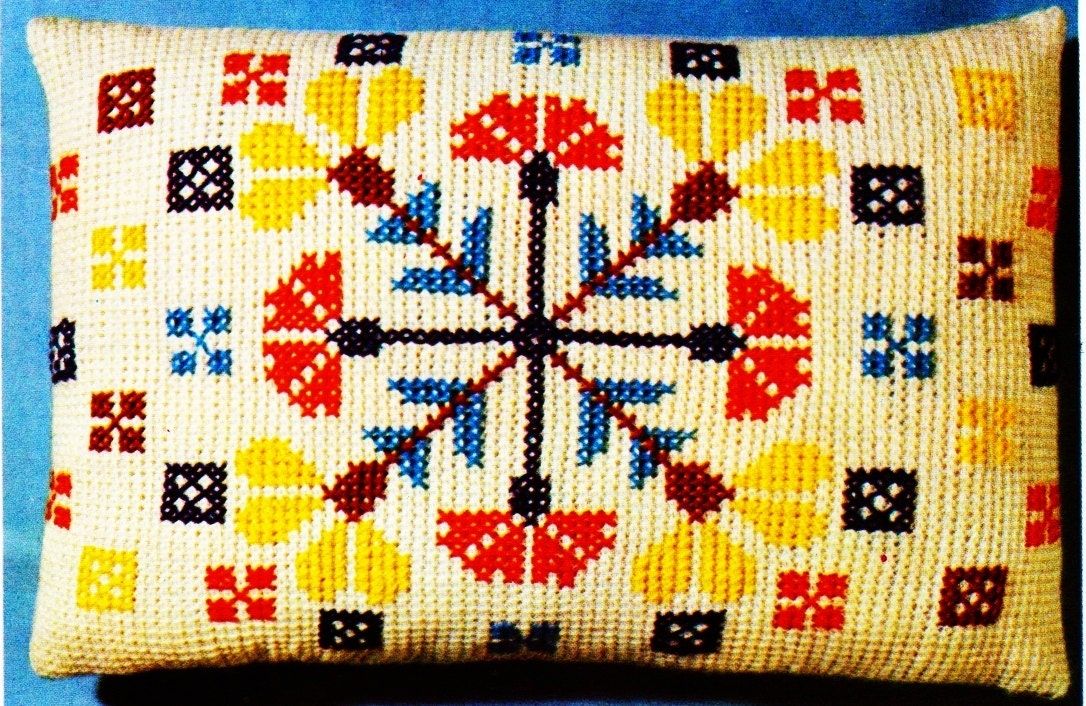 Instant Pdf Download Vintage Chart Crochet Pattern To Make A Bright