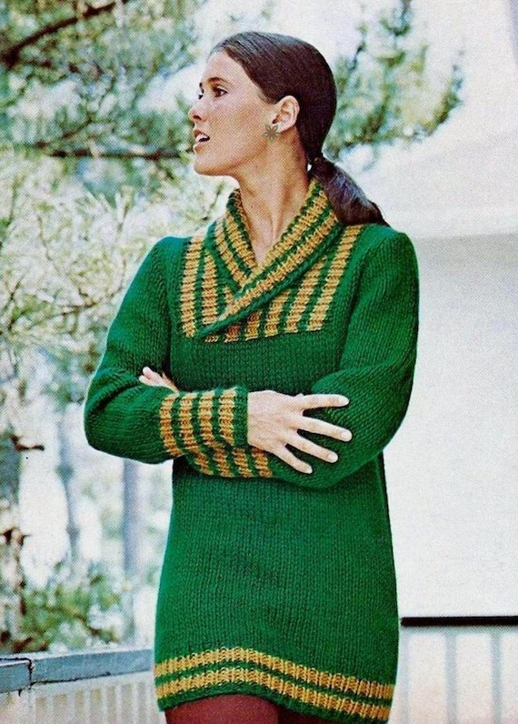 89adecbde99d5 Instant Download PDF Vintage Knitting Pattern Ladies Chunky