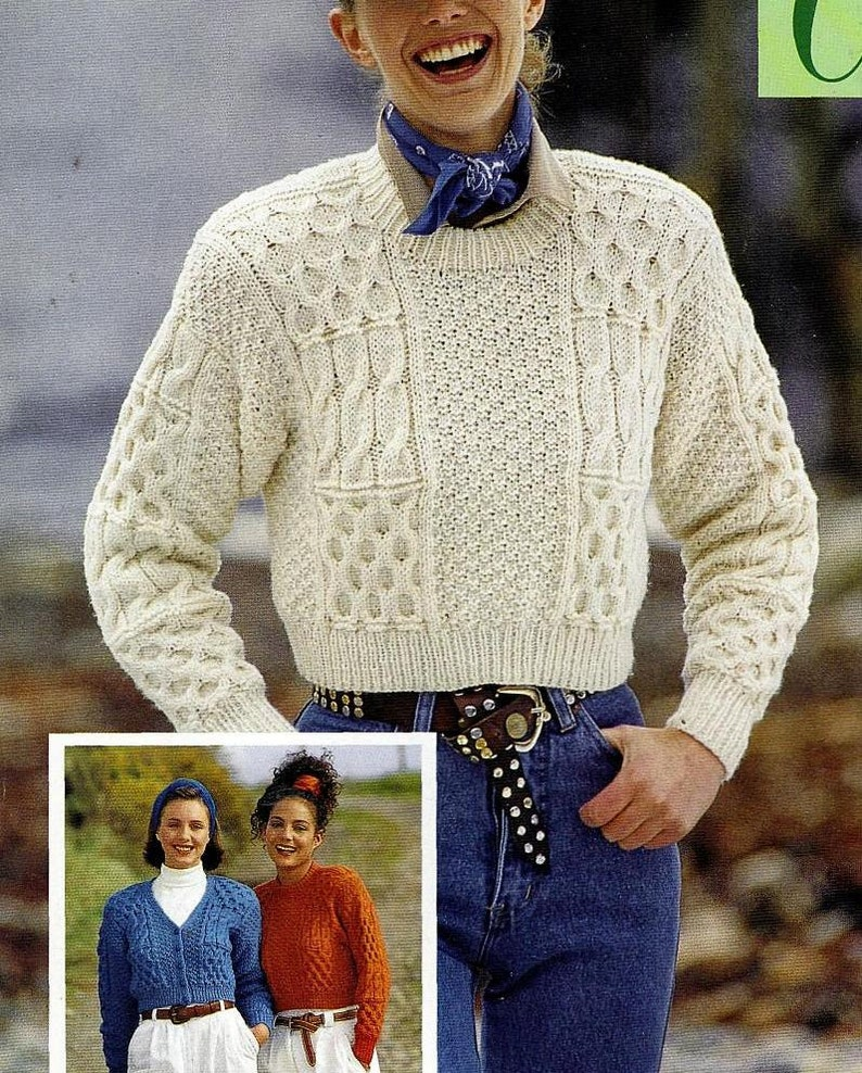 d5433be9d5a1 Instant PDF Download Vintage Row by Row Knitting Pattern to