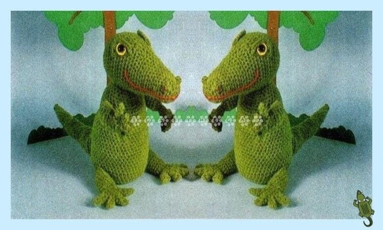 Vintage 1970s Crochet Pattern To Make A Cute Crochet Alligator