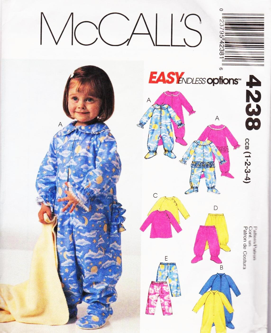 UNCUT Factory Folded Sewing Pattern McCalls 4238 Toddlers Jumpsuit ...