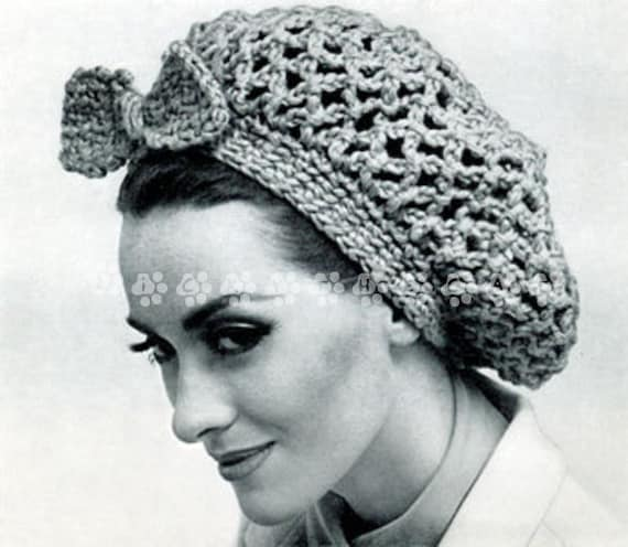 Vintage Crochet Pattern 1950s To Make A Ladies 1950s Hair Snood Or