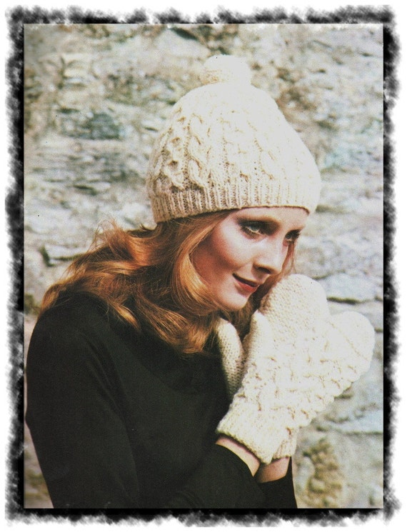 e722f587aea Instant Download PDF Vintage Easy Knitting Pattern Ladies