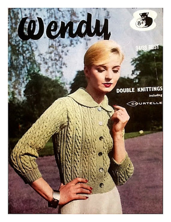 Almost Free Instant Pdf Download Vintage Knitting Pattern Etsy