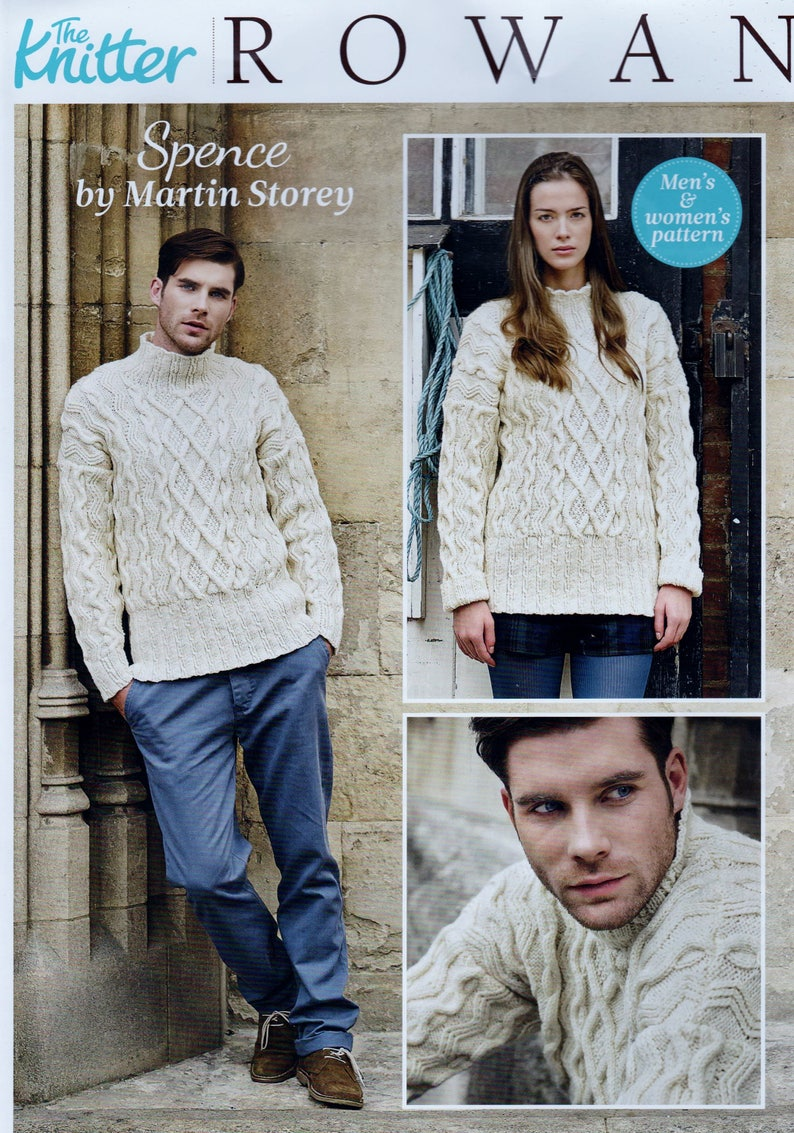 2ba9397530cb8 Original Knitting Pattern Rowan Martin Storey Aran Adult Cable