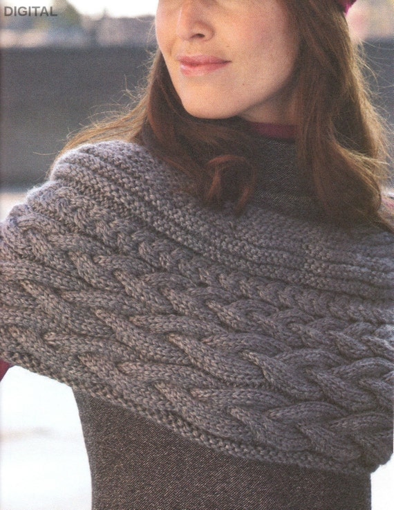4c1cac383051 Vintage Row by Row Knitting Pattern PDF to make Ladies Chunky