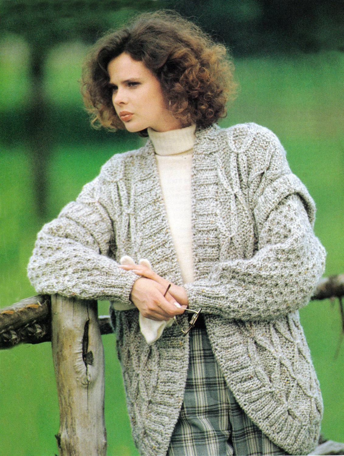 056d6473896c Instant Digital Download PDF Vintage Row by Row Knitting Pattern to make  Ladies Chunky Honeycomb   Smock Cardigan Jacket Bust 34-38