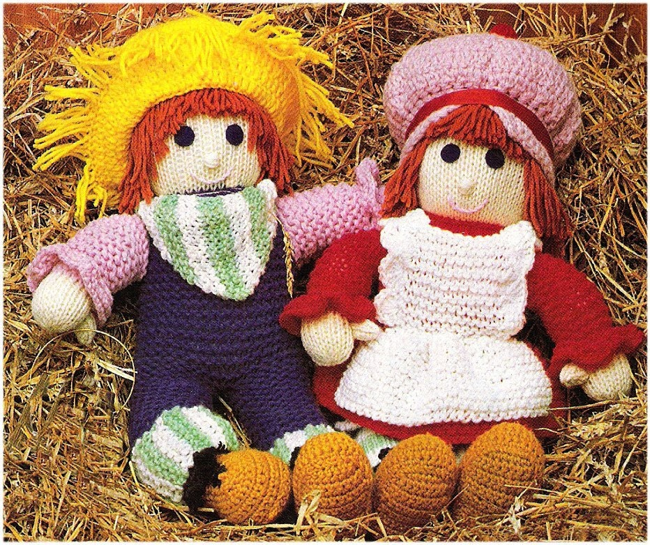 Vintage Pdf Crochet Knitting Pattern To Make A Boy And Girl 20