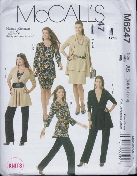 UNCUT Factory Folded Sewing Pattern McCalls M6247 Nancy | Etsy